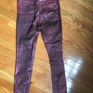 rag & bone Jeans - Rag & Bone metallic cropped ankle pants, sz 27